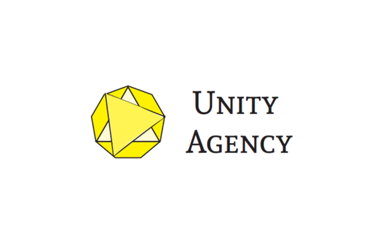 Unity logo as a nonagon with 2 rotated interior triangles