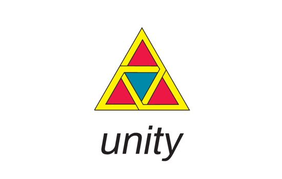 Unity logo with interlocking triangles