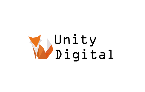 Unity logo with an origami fox