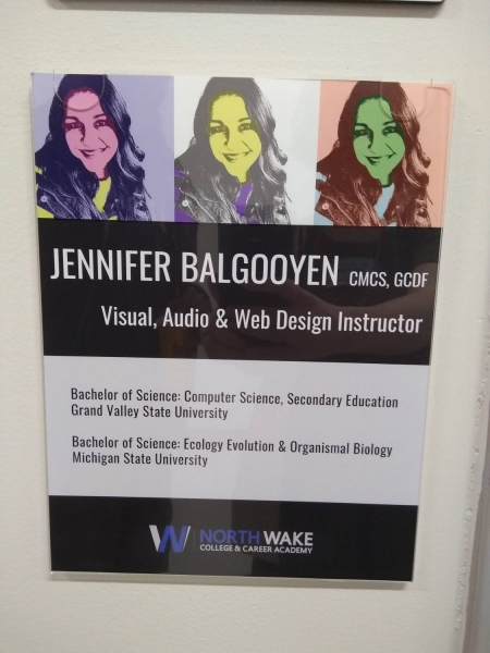 Jennifer Balgooyen, visual, audio, and web design instructor
