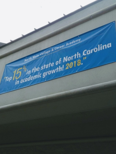 Top 15 percent in North Carolina in academic growth in 2018!