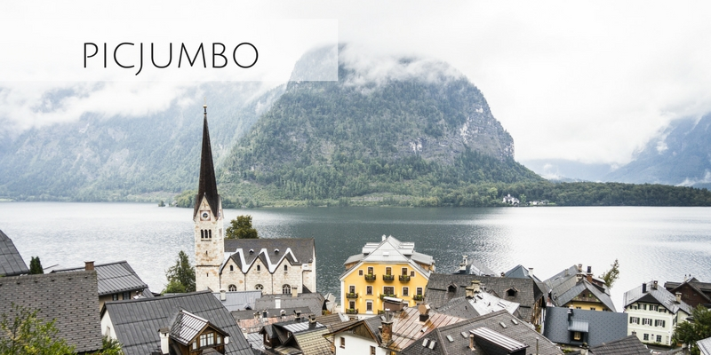 Beautiful photograph of small historic town from Picjumbo