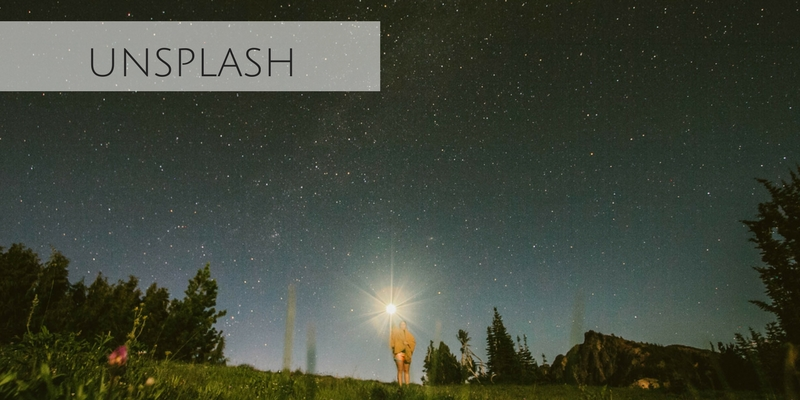 Beautiful stock photograph of starry sky from Unsplash