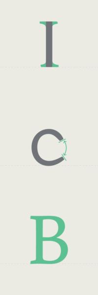 Illustration of typographic elements.