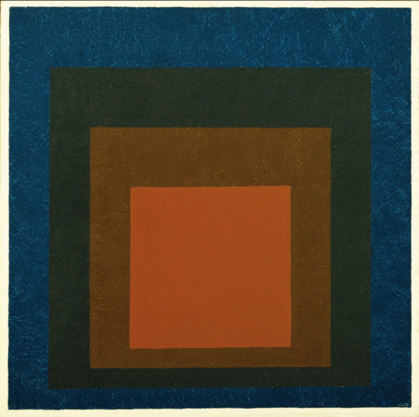 Josef Albers Homage to the Square-Night Shades painting