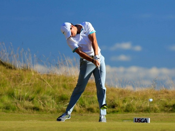 PGA Tour golfer Rory Mcilroy driving the golf ball during the 2015 U.S. Open