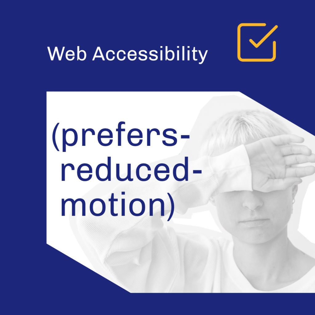 Prefers reduced motion graphic