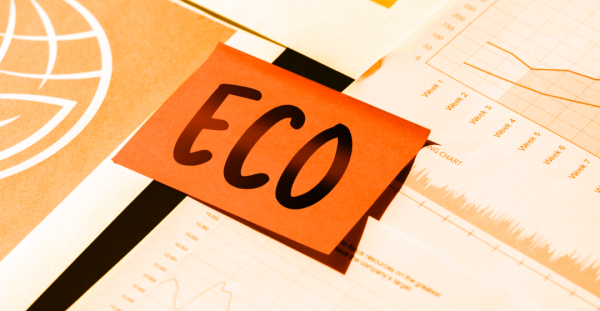 """A post it note with the word """"Eco"""" written on it"""