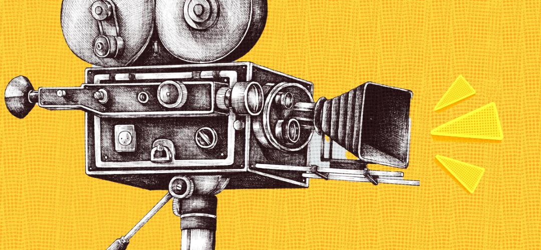 A movie-studio camera